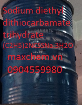 (C2H5)2NCSSNa - natri diethyldithiocarbamate trihydrat, Sodium diethyldithiocarbamate trihydrat
